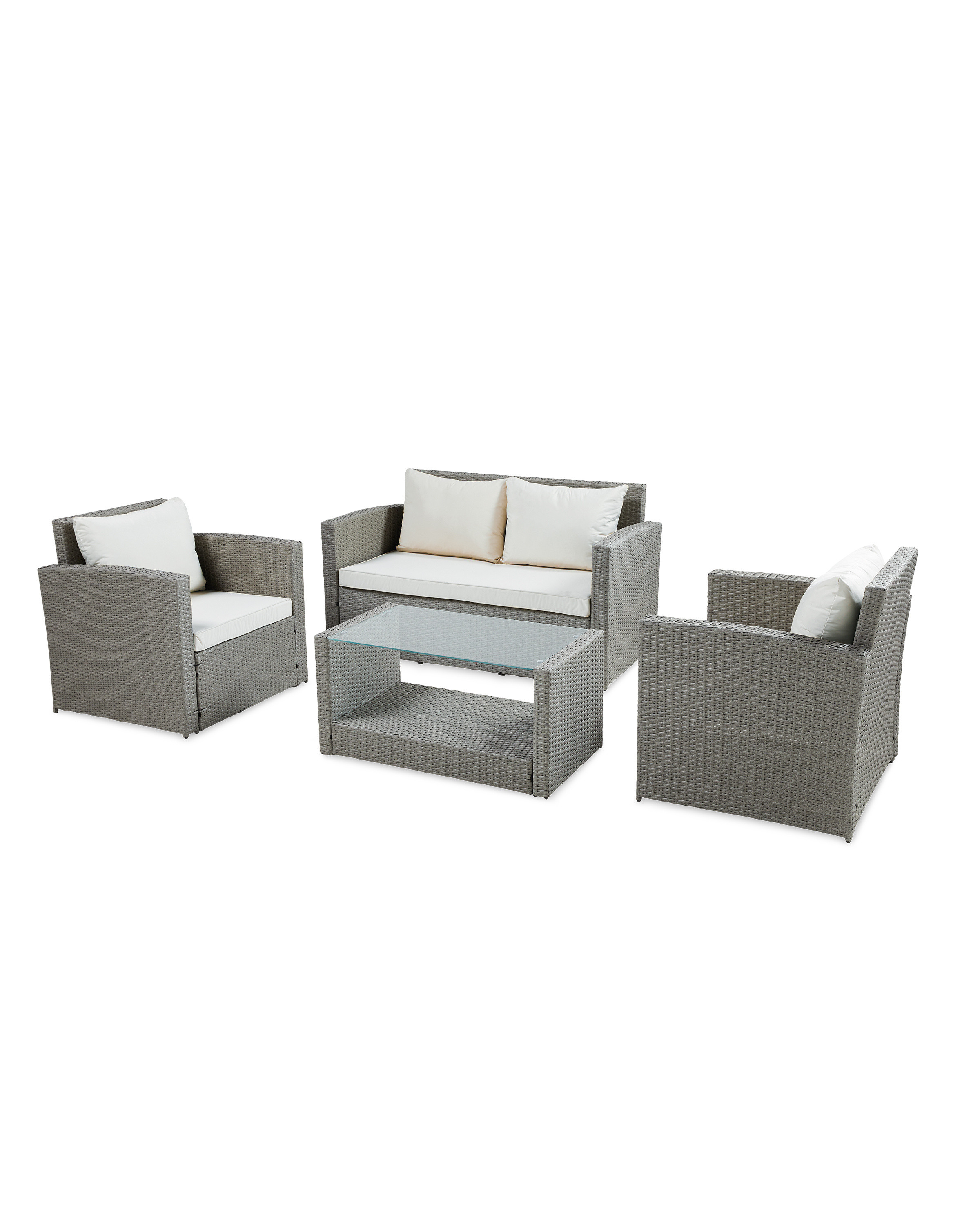Strange Grey Rattan Effect Garden Set Interior Design Ideas Gentotryabchikinfo