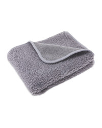 Grey Sherpa Fleece Pet Blanket