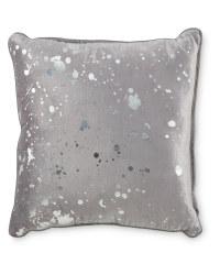 Grey Splatter Cushion