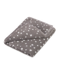 Grey Spot Bath Towel