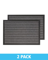 Grey Stripe Twin Pack Utility Mats