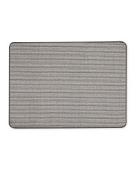 Grey Stripes Washable Utility Mat