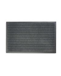 Grey Striped Dirt Resistant Mat