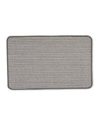 Grey Stripes Washable Kitchen Mat