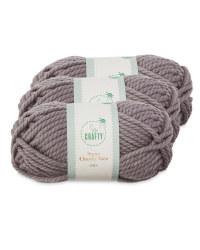 Grey Super Chunky Yarn 3 Pack