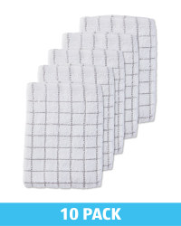 Grey Terry Tea Towels 10 Pack