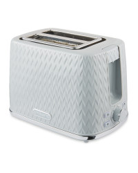 Grey Textured 2 Slice Toaster