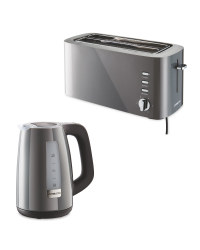 Grey Toaster and Kettle Bundle