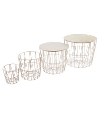 Grey Wire Storage/Table 4 Pack