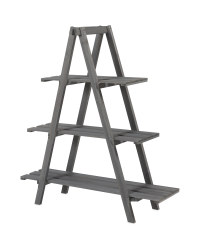 Grey Wooden Plant Stand