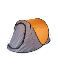 Grey and Orange Pop-Up Tent