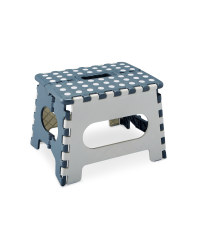 Grey and White Folding Step Stool