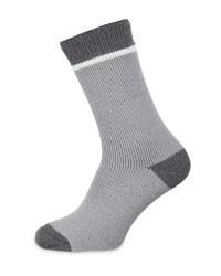 Grey Heat Socks Size 6-8