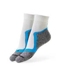 Grey/Blue Cycling Ankle Socks