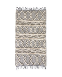 Grey/Cream Textured Rug