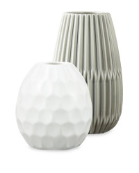 Grey/White Decorative Vases 2 Pack