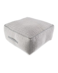 Grey/White Diamond Floor Cushion