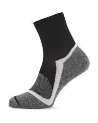 Crane Grey & White Sport Socks