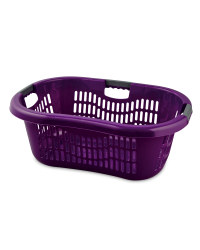 Grid Laundry Basket - Blackberry