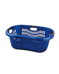 Grid Laundry Basket - Blue
