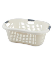 Grid Laundry Basket - Cream