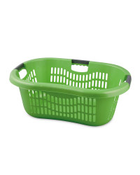Grid Laundry Basket - Green