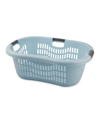 Grid Laundry Basket - Pastel Blue