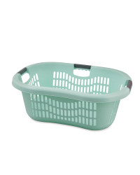 Grid Laundry Basket - Pastel Green