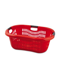 Grid Laundry Basket - Red