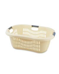 Grid Laundry Basket - Vanilla