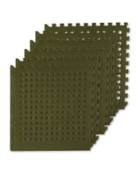 Adventuridge Grid Floor Mats 6 Pack - Green