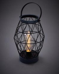 Gunmetal Solar Wire Lantern