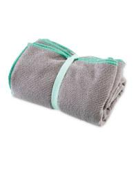 Crane Gym Towel - Grey and Mint