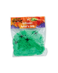Halloween Spiders Webs - Green