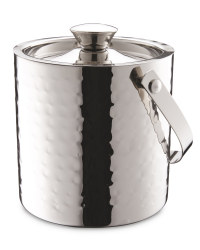 Hammered Ice Bucket - Stainless Steel
