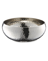 Hammered Serving Bowl - Stainless Steel