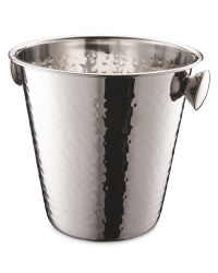 Hammered Wine Bucket - Stainless Steel
