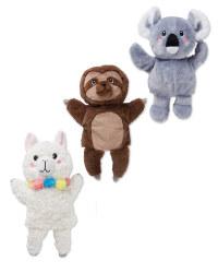 Koala, Sloth & Alpaca Hand Puppets