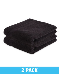 Kirkton House Hand Towels 2 Pack - Black