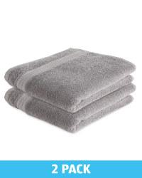 Kirkton House Hand Towels 2 Pack - Grey