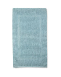 Handloom Luxury Bath Mat - Duck Egg