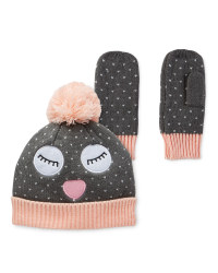 Lily & Dan 3-6 Grey Hat & Gloves