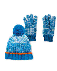 Lily & Dan Blue Hat & Gloves 3-6