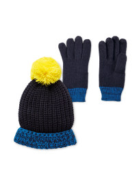 Lily & Dan Navy Hat and Gloves 7-10