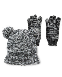 Lily & Dan Marl Hat & Gloves 7-10