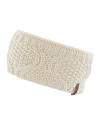 Cable Knit Fleece Lined Headband