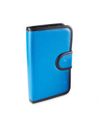 Health + Pill Wallet with Braille - Blue