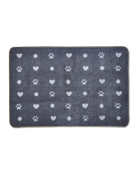 Heart/Paws Washable Pet Boot Mat