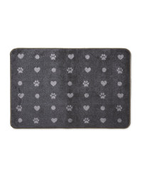 Heart and Paw Washable Pet Boot Mat