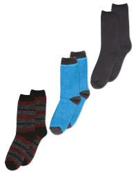 Mens Heat For Your Feet Socks